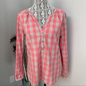 MAISON SCOTCH Plaid Blouse Pink Size Large